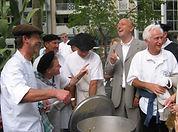 Dégustation de la Garbure avec Alain Darroze, Pierre Bonte et arcel Amont