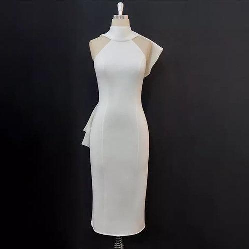 Elegant Back Bow Tie Dress
