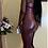 Thumbnail: Sweet U Neck Split Mid Calf Dress