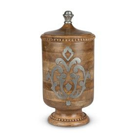 Wood and Metal Large Canister