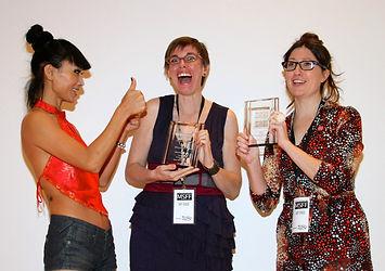 Bai Ling with filmmakers Susan Kerns & K