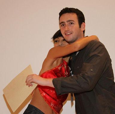 Bai Ling hugs Best Film winner, Tyler Sp