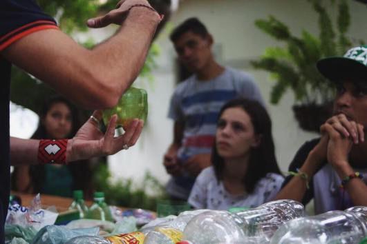 Vanildo Franco e alunos durante a vivênc
