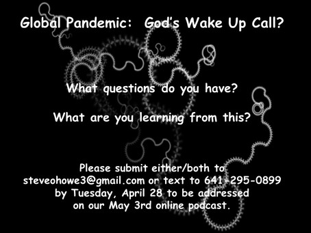 May 3rd online Q & A service regarding our current situation