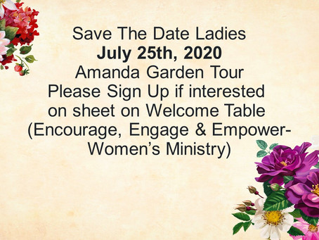 Save The Date Ladies
