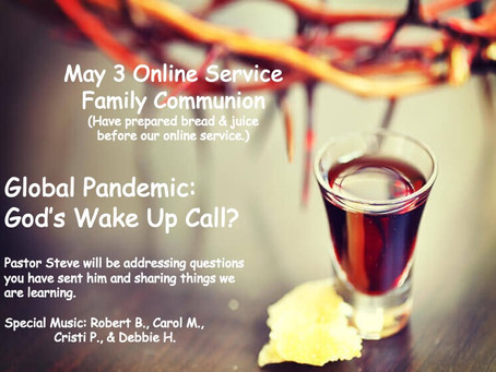 May 3 Online Service Family Communion