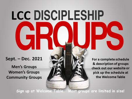 Lifehouse Community Church Discipleship Groups Sept - Dec 2021