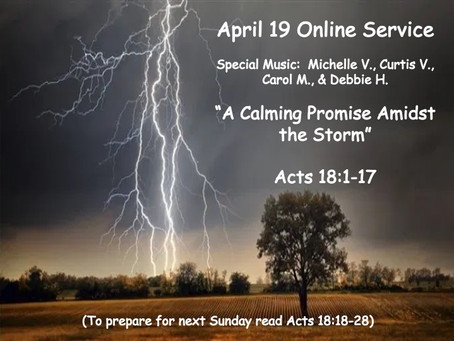 Family Discussion Questions for April 19 Online Service