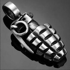 Pineapple Hand Grenade Biker Necklace Pe