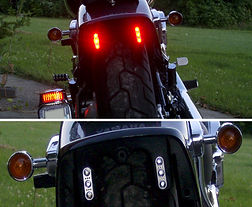 Microlazers LED motorcycle Brake and Tail Light