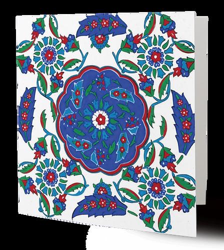 Iznik Tiles Series No.3 Greeting Card