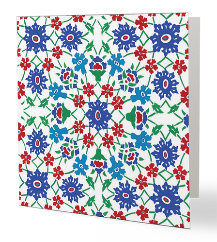Iznik Tiles Series No.1 Greeting Card