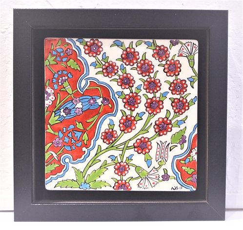 Framed Life Tree Ceramic Tile