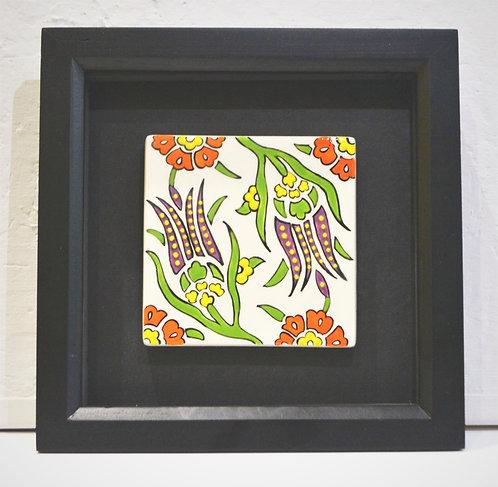Framed Purple Tulip Ceramic Tile