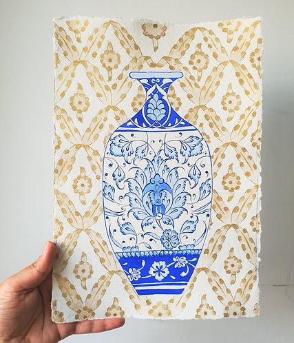 Tall Blue Vase Painting