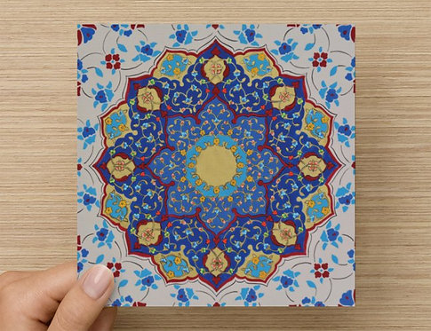 Turquoise Circle Greeting Card