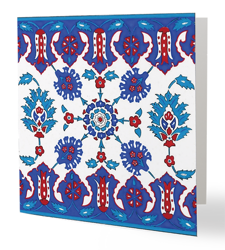 Iznik Tiles Series No.2 Greeting Card