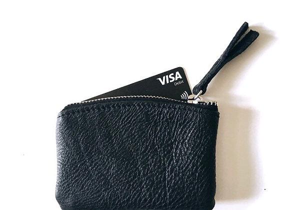 Etui picolo černá - stříbrná  - mini peněženka