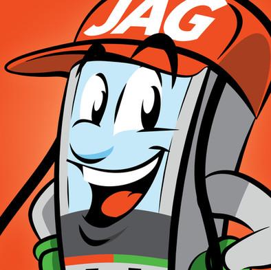 """Diseño de personaje """"Bombín"""" / Cadena de gasolineras JAG"""