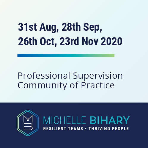 Professional Supervision Community of Practice Workshop 2020