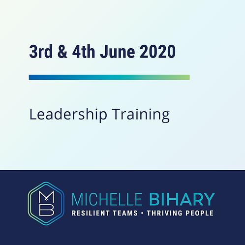 Leadership Training 3rd & 4th June 2020