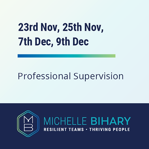 Professional Supervision Workshop 23rd/25th of Nov & 7th/9th of Dec 2020