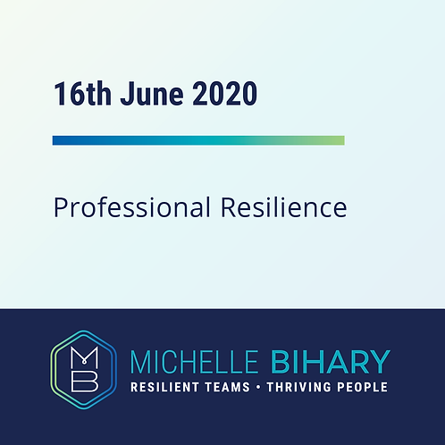 Professional Resilience Training 16th of June