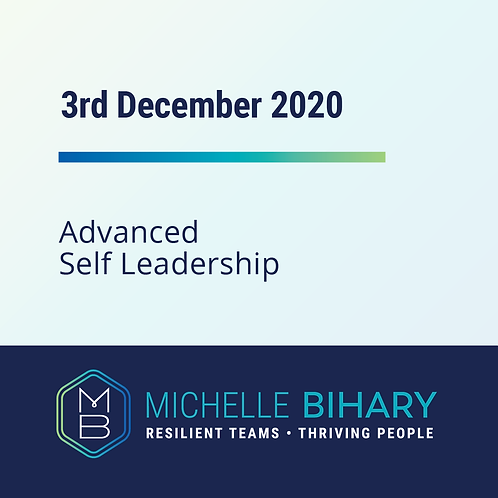 Advanced Self-Leadership Workshop December 3rd 2020