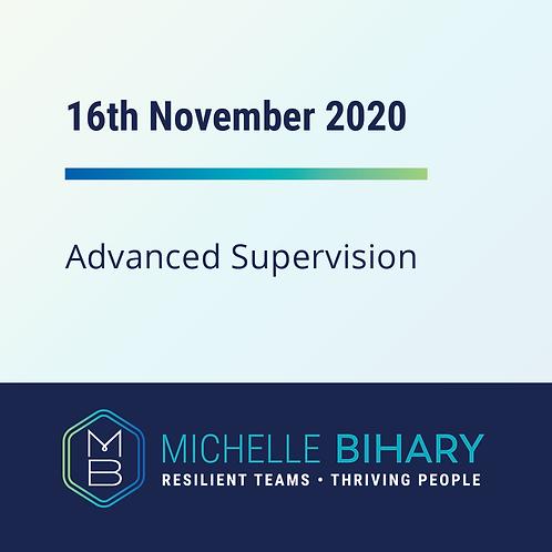 Advanced Supervision Workshop November 16th 2020