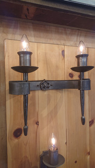 Double spindle wall light