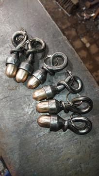 Bronze acorn keyrings