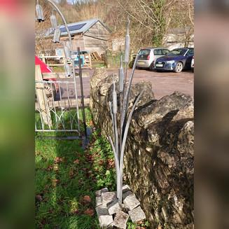 4 foot bulrush garden sculpture