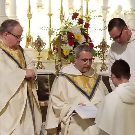 Br. Peter Professes First  Vows
