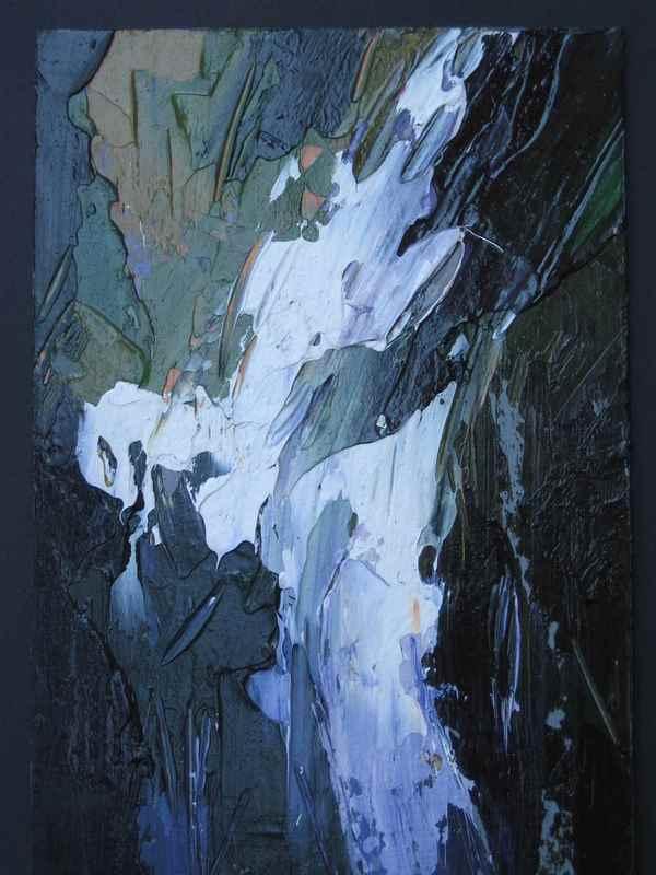 Cascatella II 2005. Acrilico su cartone 29,5x20