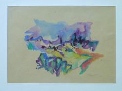 Provenza 1992. Acquarello su carta 23,5x33
