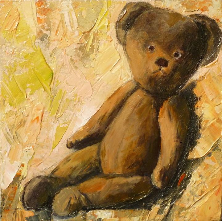 L'orso di Angie. Acrilico su tela 2017, 30x30