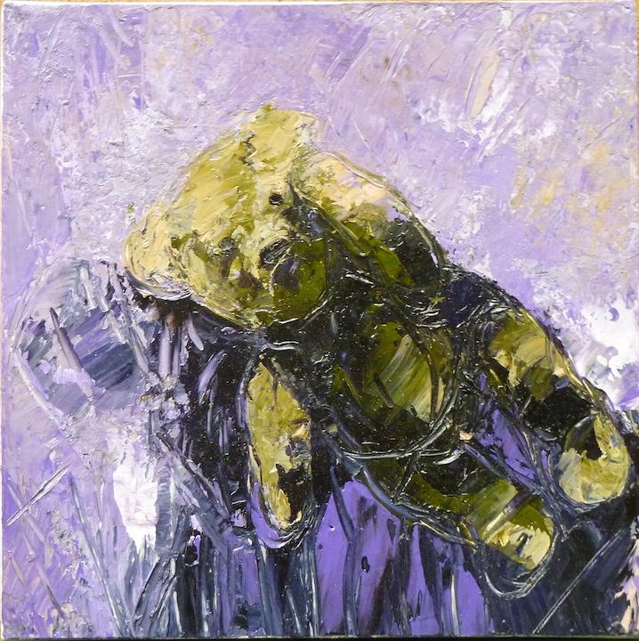 Teddy Bear n. 20. Acrilico su tela 2016, 30x30
