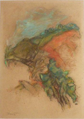 Papaveri sulla collina 1997. Pastello su carta 42x29,7
