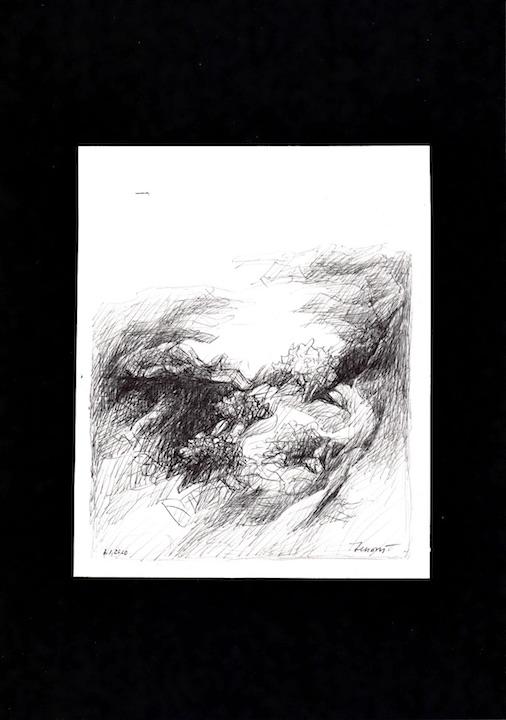 Forme n. 5, 2020. Disegno a penna su carta 17,7x14,5
