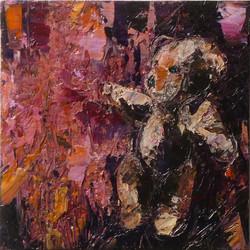 Teddy bear n. 13. Acrilico su tela 2016, 30x30