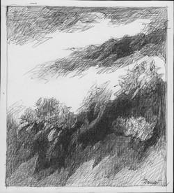 Forme n. 50, 2020. Disegno a penna su carta 16,1x14,6