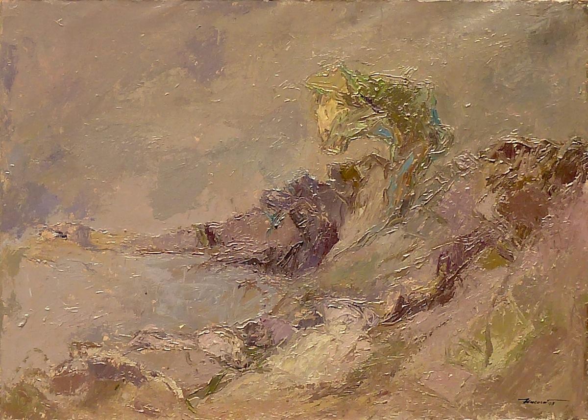 Argine 1993, acrilico su tela 50x70
