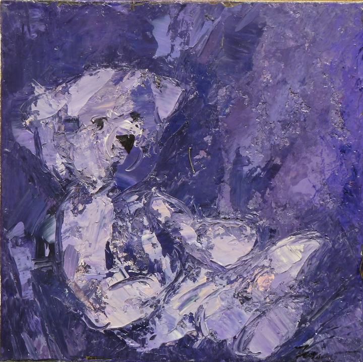 Teddy Bear n. 16. Acrilico su tela 2017, 30x30