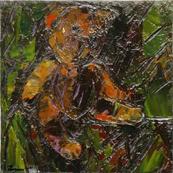 Teddy Bear n. 24. Acrilico su tela 2017, 30x30