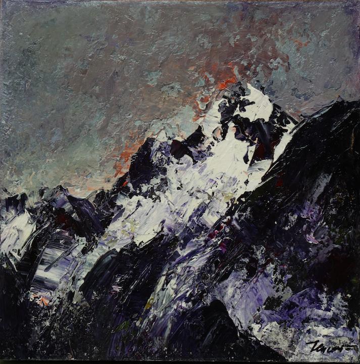 Montagne I 2019. Acrilico su tela 50x50