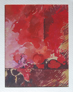 Piccola natura morta 1985. Tempera su carta 14x10