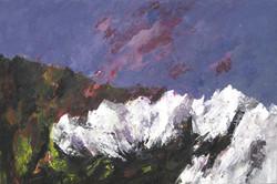 Paesaggio petrigno (Shenandoah) 2007. Acrilico su tela 100x70