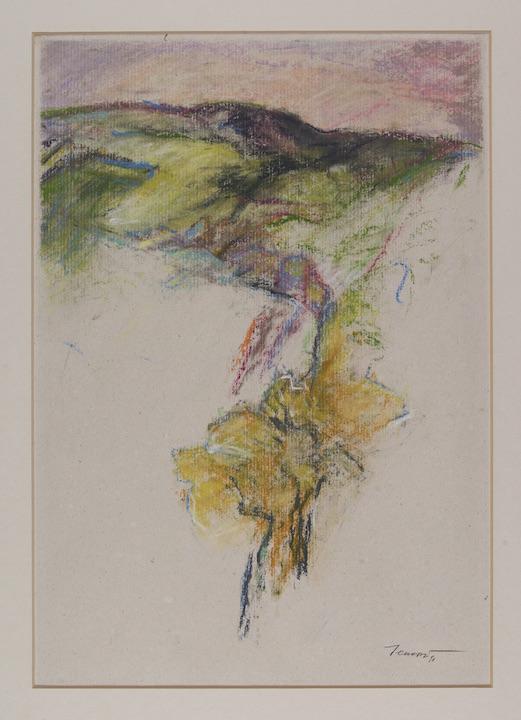 Provenza 1990. Pastello su carta Provence 42x29,7