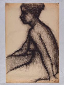 Figura 1958, Disegno a Conté 70x50