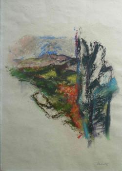 Provenza 1990 II. Pastello su carta Provence 42x29,7